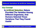 natural variation artificial selection8