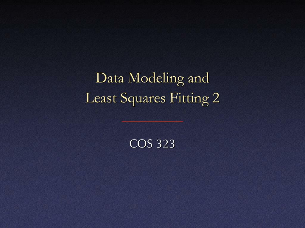 data modeling and least squares fitting 2 l.