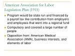 american association for labor legislation plan 19158