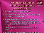 american national standards institute ansi z21 11 2