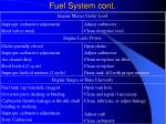fuel system cont