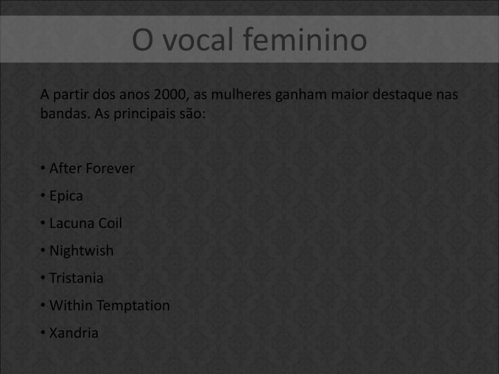 O vocal feminino