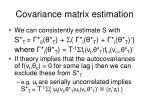 covariance matrix estimation32