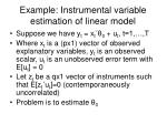 example instrumental variable estimation of linear model
