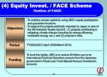 4 equity invest face scheme outline of face