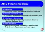 jbic financing menu