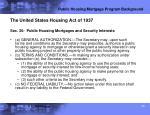 public housing mortgage program background