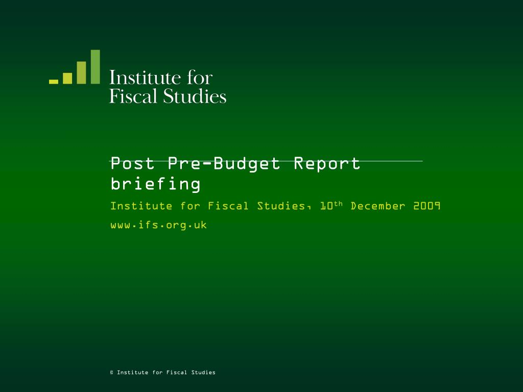 post pre budget report briefing l.