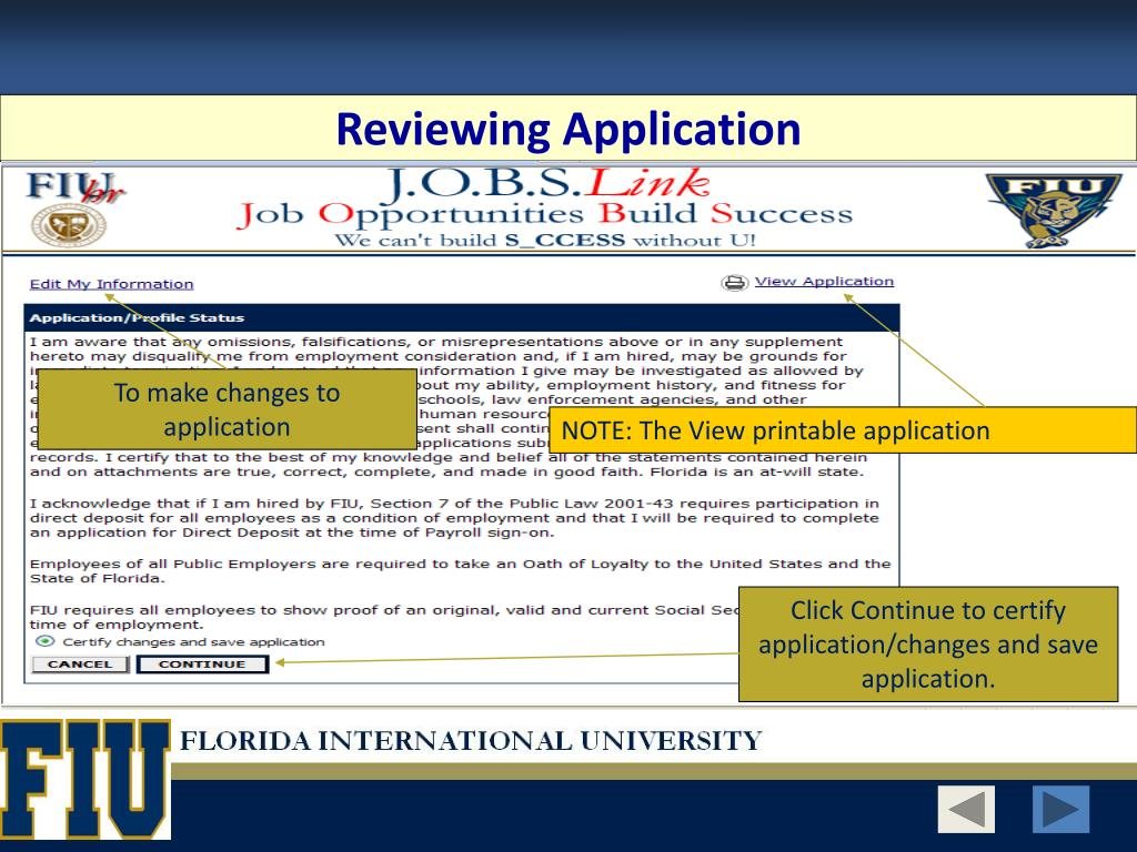 Reviewing Application