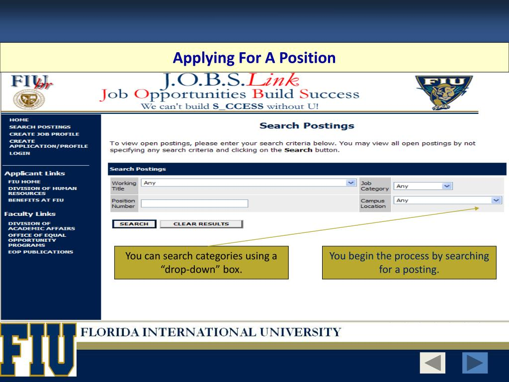 Applying For A Position