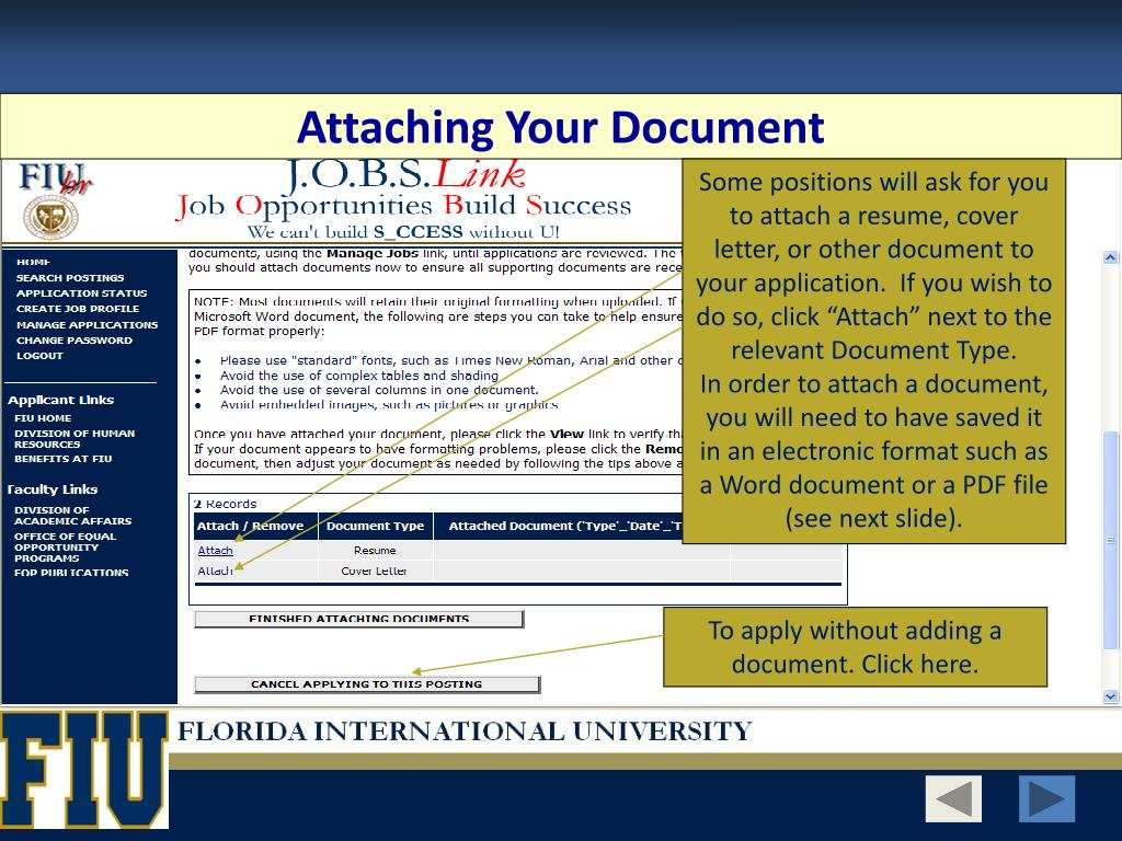 Attaching Your Document