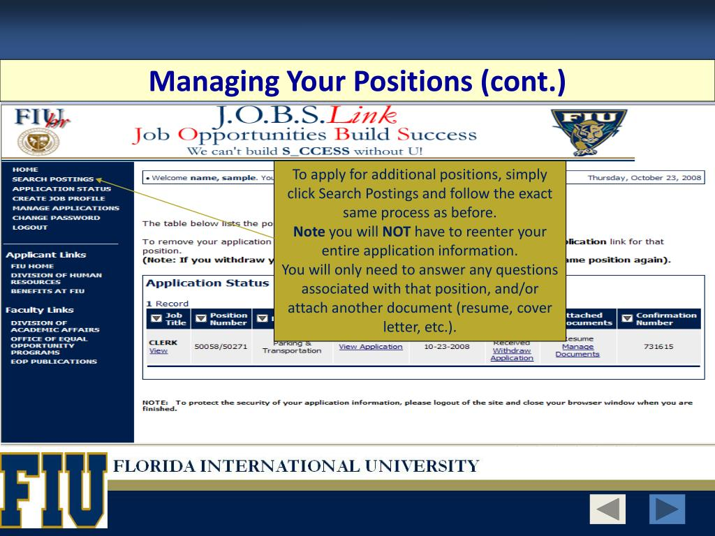 Managing Your Positions (cont.)