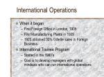 international operations