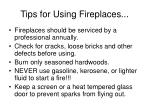 tips for using fireplaces