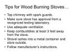 tips for wood burning stoves
