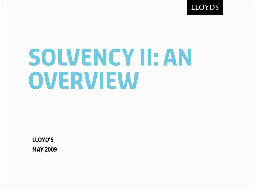 solvency ii an overview l.