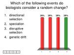 which of the following events do biologists consider a random change