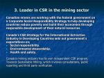 3 leader in csr in the mining sector
