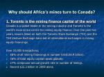 why should africa s mines turn to canada