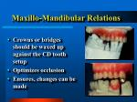 maxillo mandibular relations31
