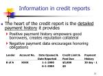 information in credit reports