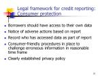 legal framework for credit reporting consumer protection