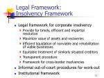 legal framework insolvency framework