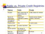 public vs private credit registries