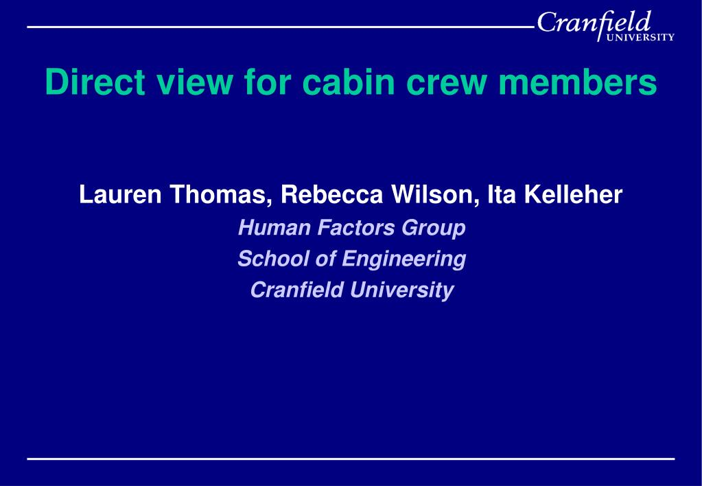 direct view for cabin crew members l.