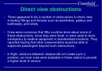 direct view obstructions