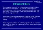 infrequent fliers