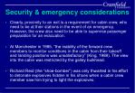 security emergency considerations