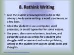 8 rethink writing