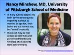 nancy minshew md university of pittsburgh school of medicine