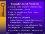characteristics of prevalence