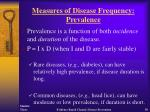measures of disease frequency prevalence30