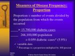 measures of disease frequency proportion13