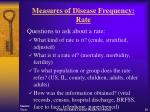 measures of disease frequency rate20