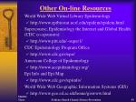 other on line resources