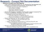 research current faa documentation