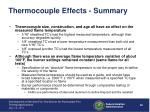 thermocouple effects summary