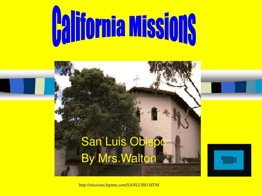 san luis obispo by mrs walton l.