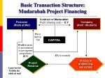 basic transaction structure mudarabah project financing