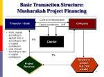basic transaction structure musharakah project financing