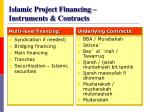 islamic project financing instruments contracts