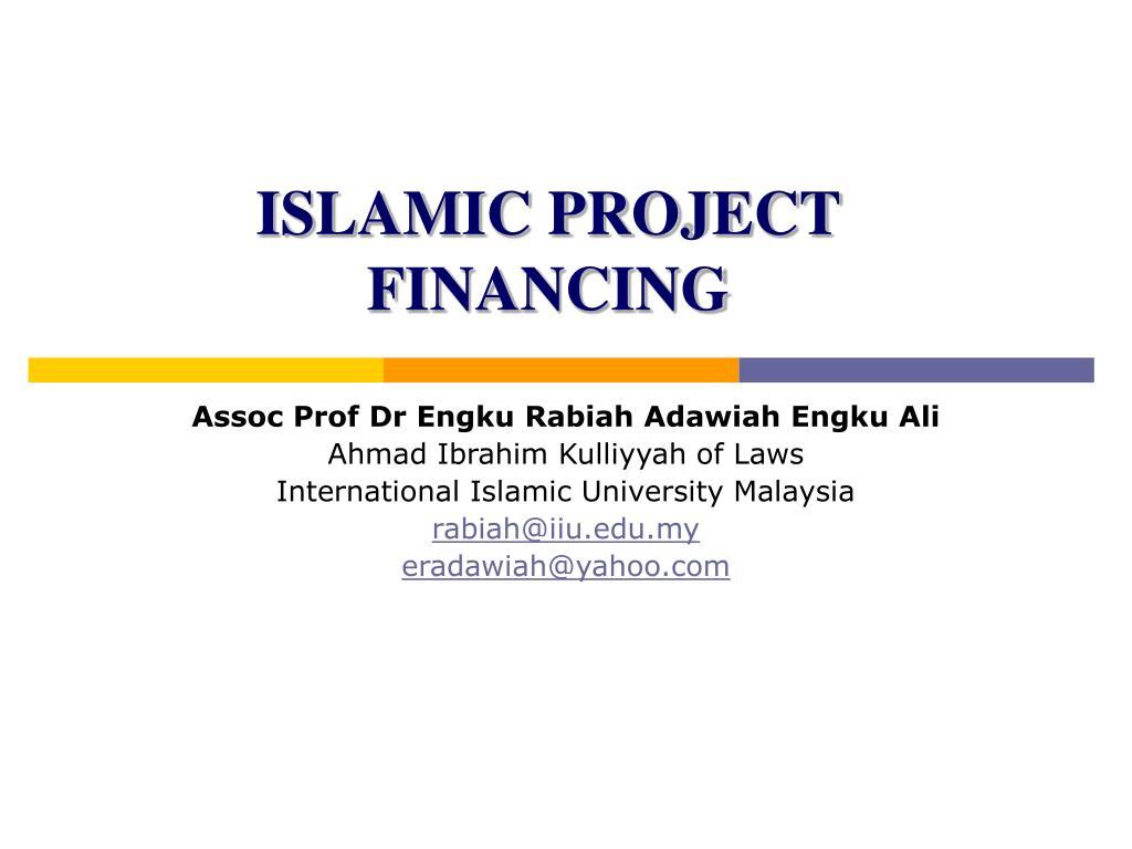 islamic project financing l.