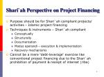 shari ah perspective on project financing