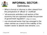 informal sector definitions