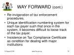 way forward cont18