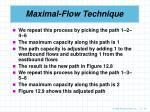 maximal flow technique18